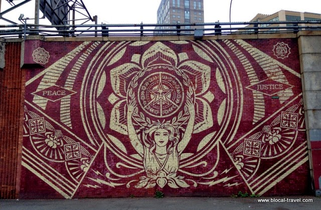 obey street art DUMBO brooklyn new york