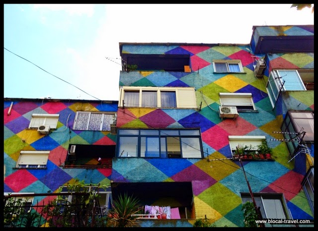 Tirana's colorful buildings