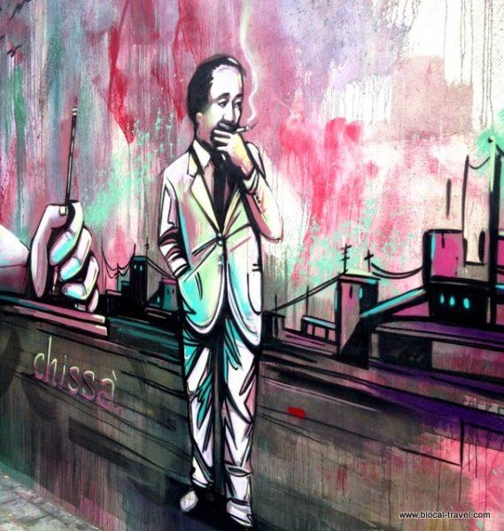 Alice Pasquini street art alfonso gatto Salerno Italy