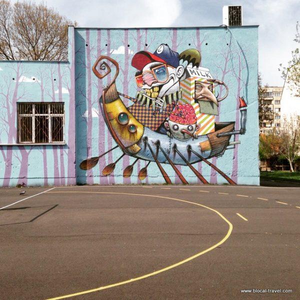 street art by Sten & Bozko in the Hazdhi Dimitar neighborhood, Sofia