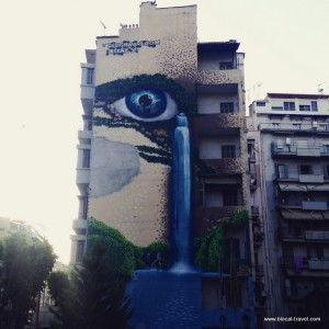street art on Sokratous st Thessaloniki