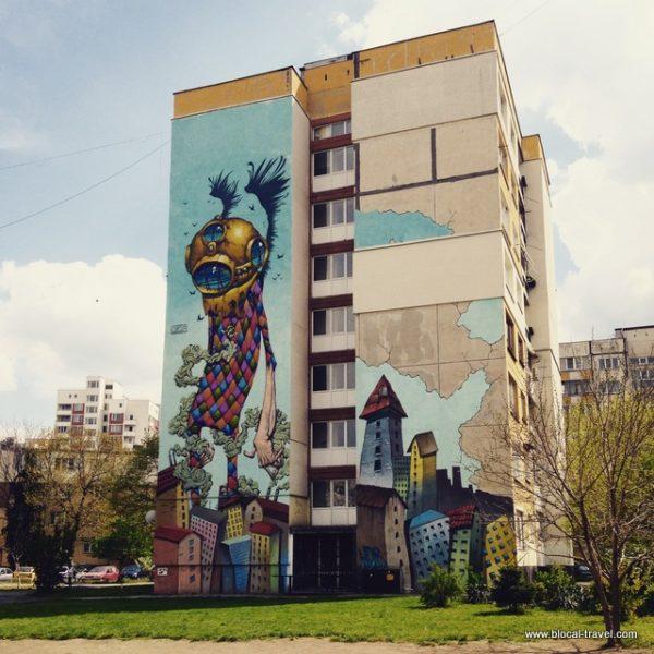 street art by Bozko in the Hazdhi Dimitar neighborhood, Sofia