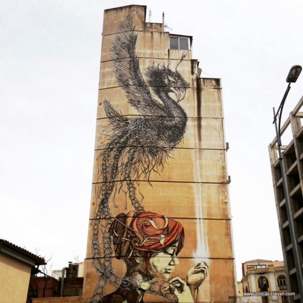 street art by DALeast and Faith47 at the beginning of Tsimiski st thessaloniki