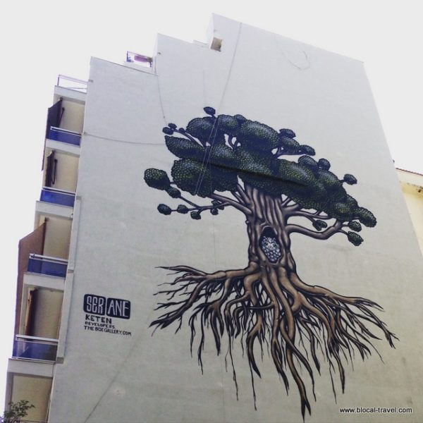 Street art by Ser on Apellou st., Thessaloniki