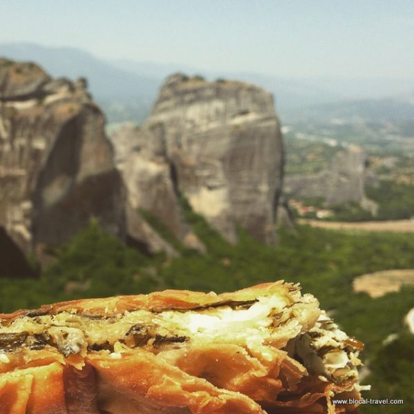 spanakopita Meteora monasteries Greece hike