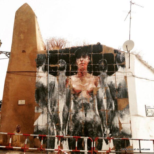 Borondo street art Lagos, Algarve, Portugal