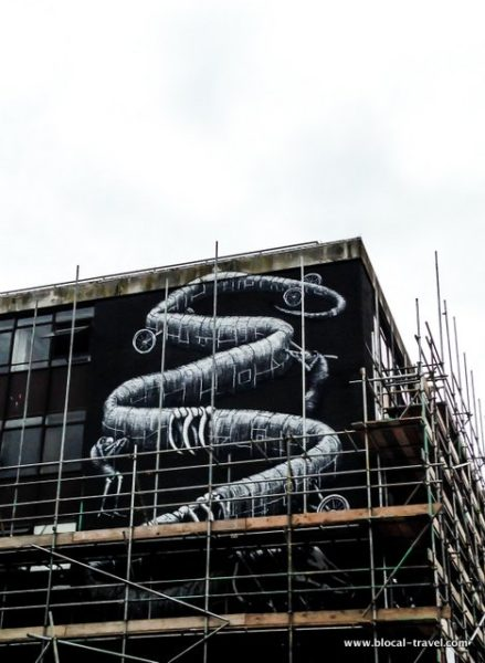 phlegm street art in cardiff wales