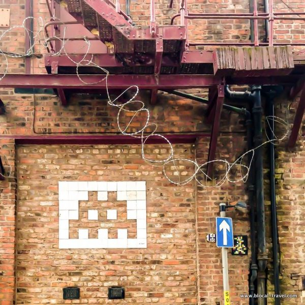Space Invader manchester street art guide
