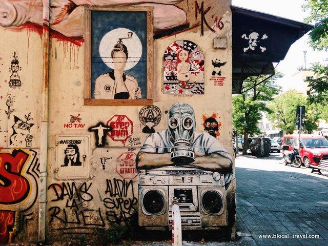 Aladin BAM political street art in Rome