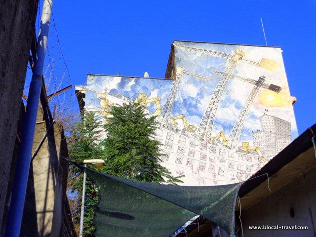 BLU political street art in Rome Ostiense