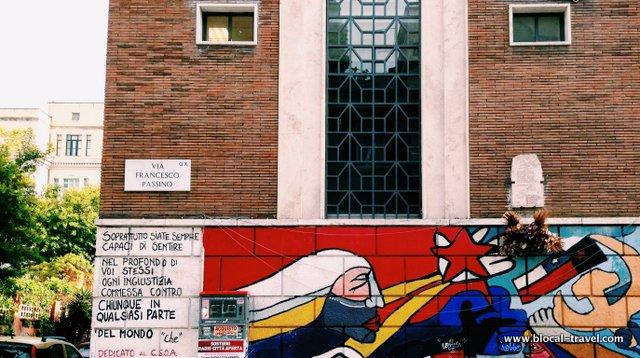 CSOA La Strada Political Street Art in Rome