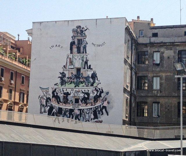Ozmo Macro Political Street Art in Rome
