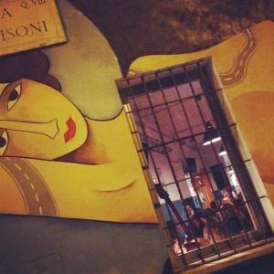 Jim Avignon - Modigliani graffiti. Street art in Quadraro, Rome    M.u.Ro. graffiti project