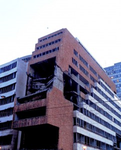 NATO bomb attack 1999 / Kneza Miloša, Belgrade