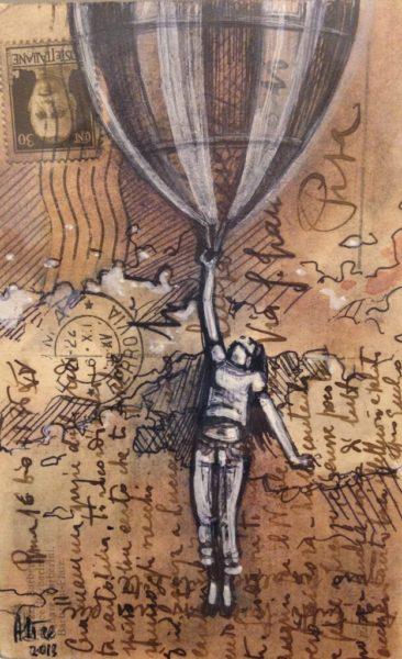 Alice Pasquini, Take me anywhere - Varsi Art Gallery, Rome | Graffiti