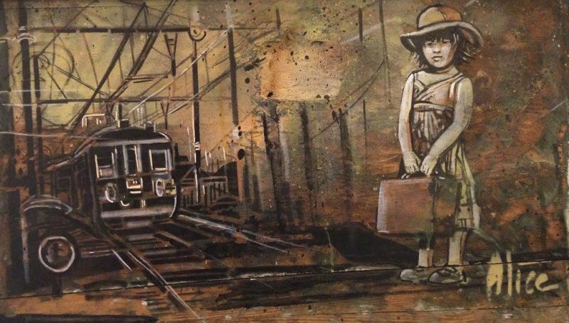 Alice Pasquini, Take me anywhere - Varsi Art Gallery, Rome   Graffiti