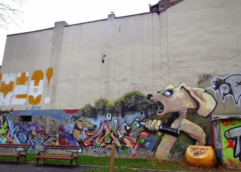 Vracar Belgrade Graffiti