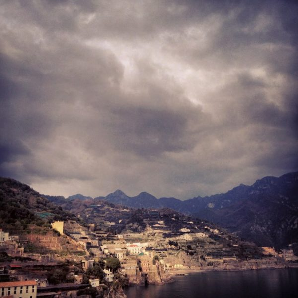 amalfi coast in winter