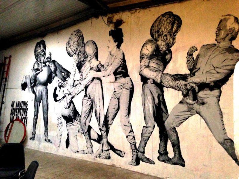 street art via Prenestina