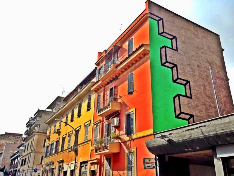 Aakash Nihalani - Tor Pignattara, Rome street art graffiti
