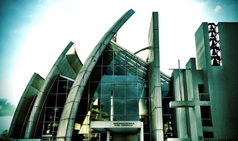 Richard Meier's Jubilee Church at Tor Tre Teste rome