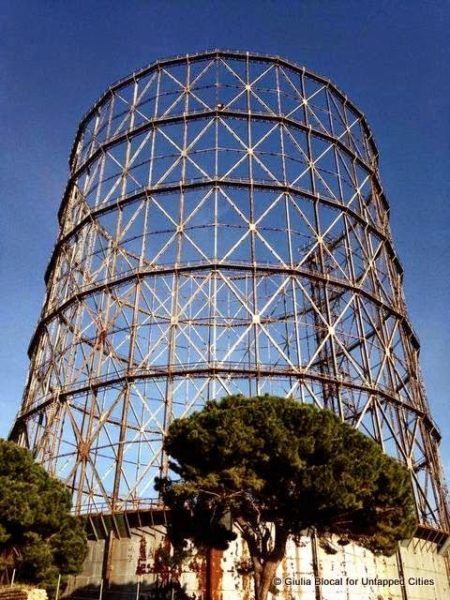gazometro gas holder ostiense roma