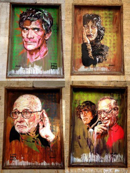 Diavù street art ex-cinema impero rome