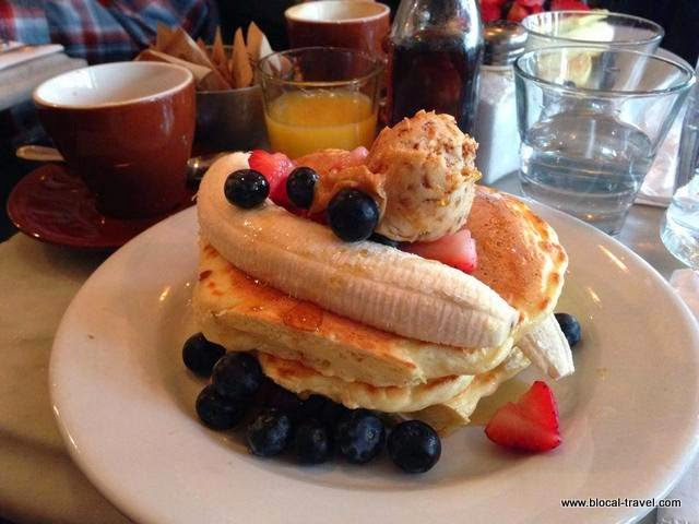 Pancakes at Five Leaves' in Greenpoint, Brooklyn, New York