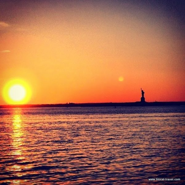 Liberty sunset, Red Hook, New York
