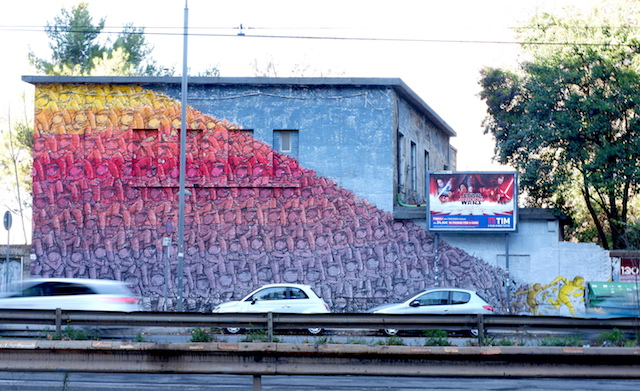 BLU street art roma prenestina