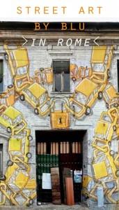 BLU's street art in Rome