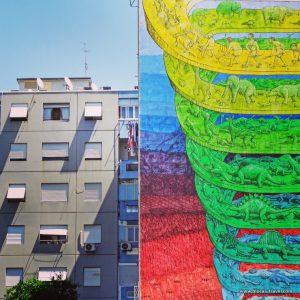 street art by BLU in Rome