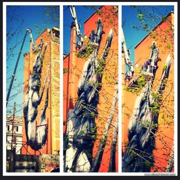 ROA street art testaccio rome