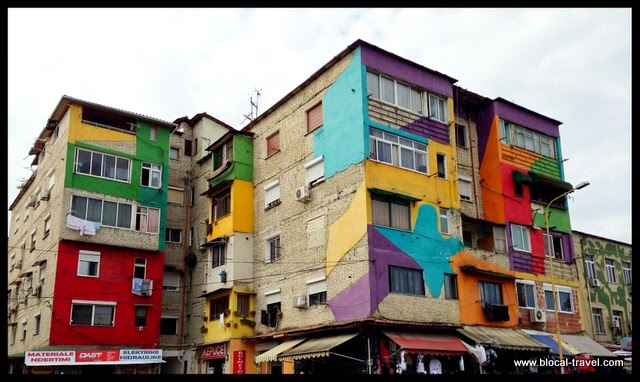 tirana painted buildings