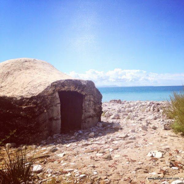 abandoned bunkers on Albanian riviera, Albania