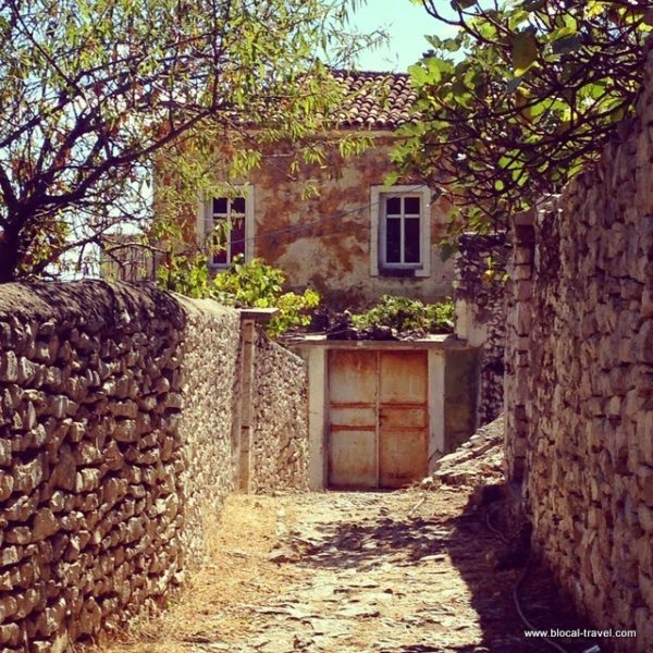 Qeparo ghost town, Albanian riviera, Albania