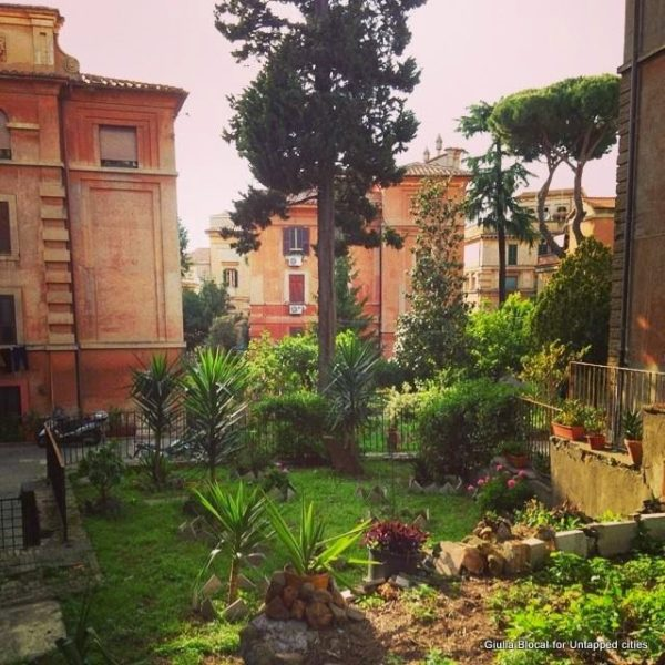 hidden courtyards garbatella neighborhood rome italy