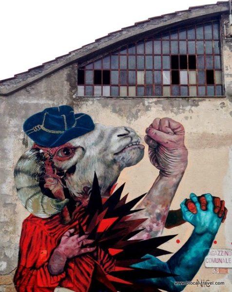 Gio Pistone Nicola Alessandrini street art arcidosso alterazioni festival tuscany