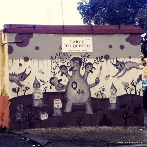 street art walking tour at quadraro
