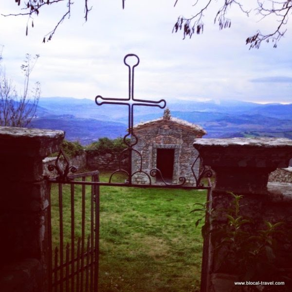 old cemetery in Montecatini Valdicecina Tuscany Italy