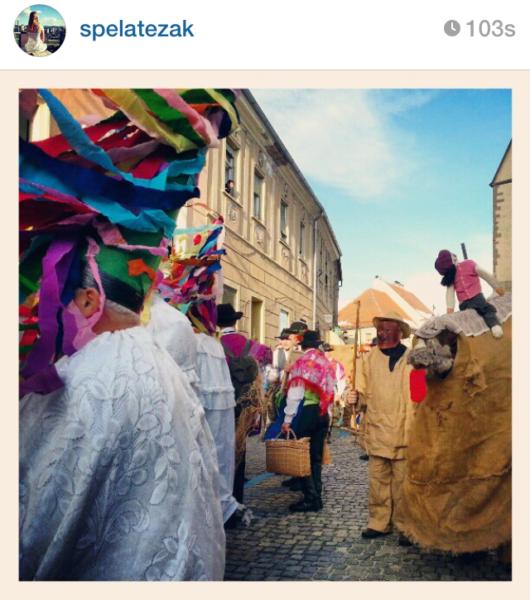 cockerels rusa Kurentovanje in Ptuj Slovenia Carnival parade