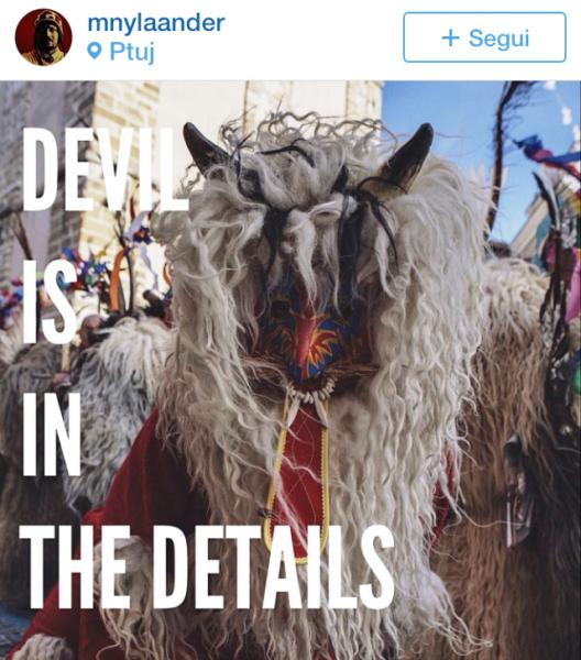 devil mask Kurentovanje in Ptuj Slovenia Carnival parade