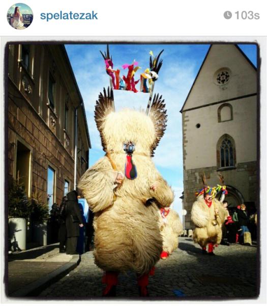 Kurentovanje in Ptuj Slovenia Carnival parade