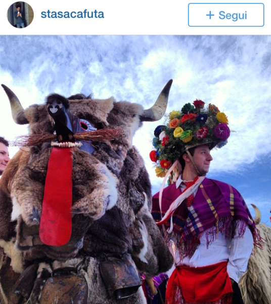 ploughmen Kurentovanje in Ptuj Slovenia Carnival parade