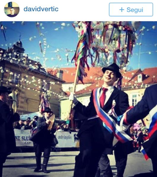 spearmen Kurentovanje in Ptuj Slovenia Carnival parade