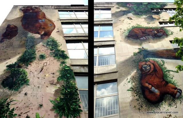street art by 140 ideas in the Poduyane neighborhood, Sofia