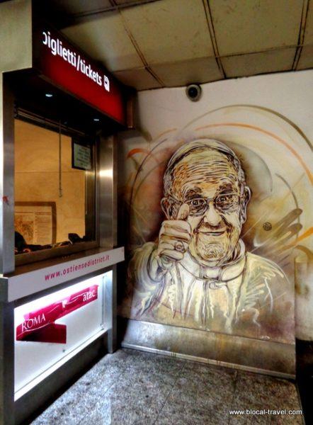 C215 metro spagna street art roma
