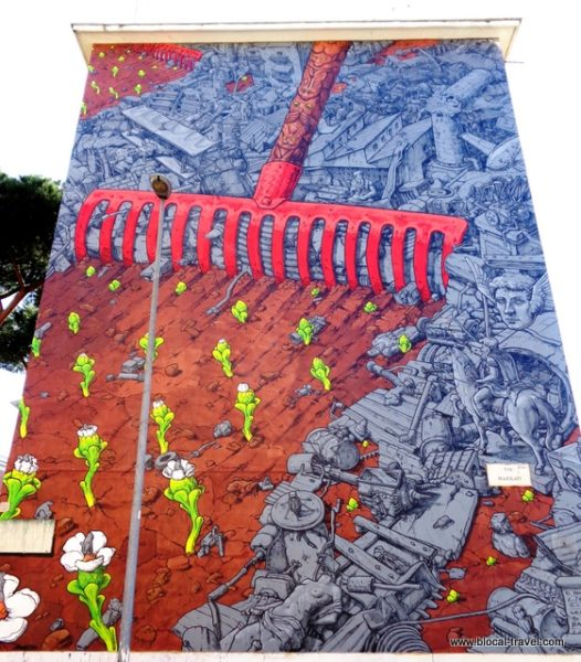 El Renacer Liqen San Basilio Roma Street art