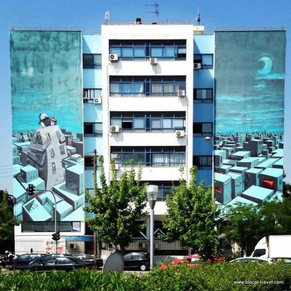 Street art on Leof Konnou Karamanli blvd., Thessaloniki