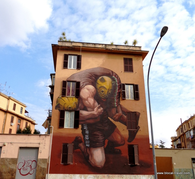 street art by Jaz in tor marancia rome